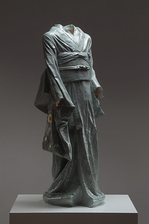 """Young Bijin is an artwork which asks questions about perceptions of beauty  Ceramic 42"""" x 17"""" x 16"""""""