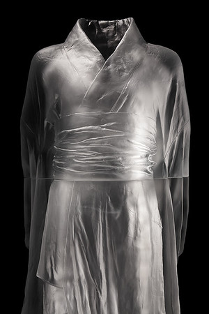 "Karen LaMonte's sculpture Hanako is a contemporary investigation of identity  Cast glass, 2012, 48"" x 20"" x 17"""