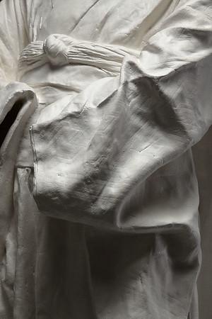 "Ceramic kimono sculpture by Karen LaMonte called Young Maiko 36"" x 19.5"" x 17"" 2010"