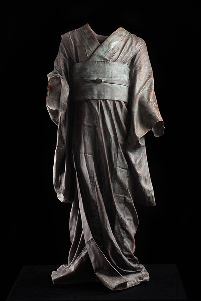 "Child's Kimono is a bronze sculpture by contemporary artist Karen LaMonte 43"" x 29"" x 15"" 2011"