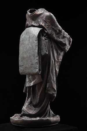"Bijin is a life size sculpture of a kimono in bronze by Karen LaMonte  53"" x 22"" x 26"""