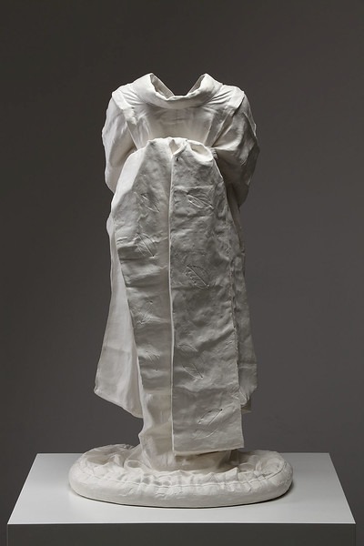 "Artwork of ceramic kimono with Terra Sigillata called Young Maiko 36"" x 19.5"" x 17"" 2010"