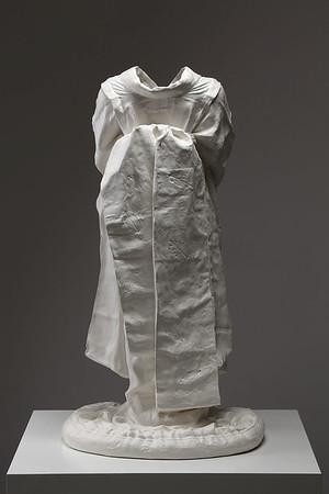 "Artwork of ceramic kimono with Terra Sigillata called Young Maiko 36"" x 19.5"" x 17"" 2010"