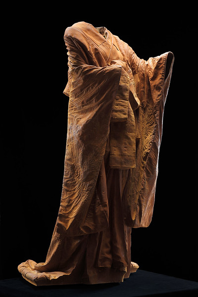 "Kabuki is a sculpture of a kimono in cast iron which asks complex questions about perfection and time. 60"" x 32"" x 33"""