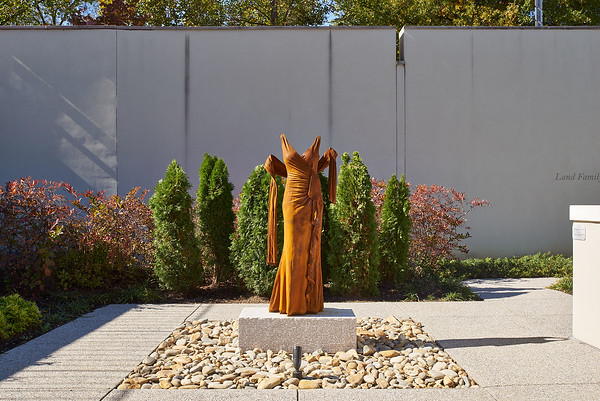 Nocturne 1 is an artwork of life-size dress in rusted iron installed outside in the sculpture garden of the Knoxville Museum of Art.