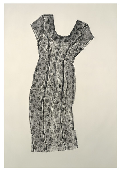 Called a Sartoriotype, this contemporary artwork is a calligraphic prints of a dress that asks questions about fashion, culture and perceptions of beauty
