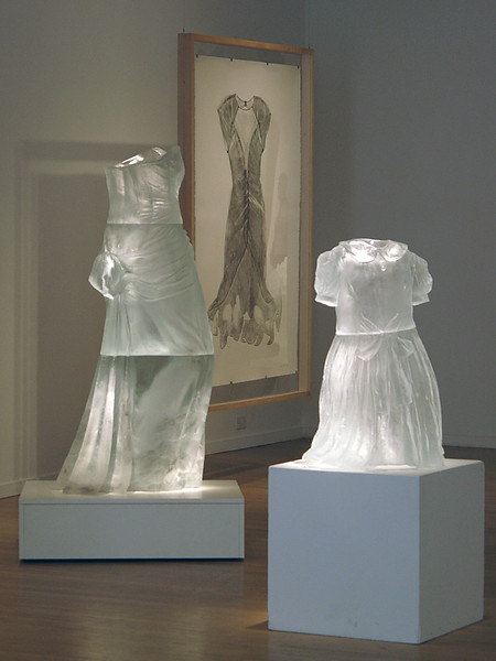 Sartoriotype print with scultpures of dresses at Museum Kunstpalast in Dusseldorg