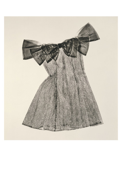 This is a Sartoriotype, a calligraphic print of a dress made by Karen LaMonte investing perceptions of fashion and beauty