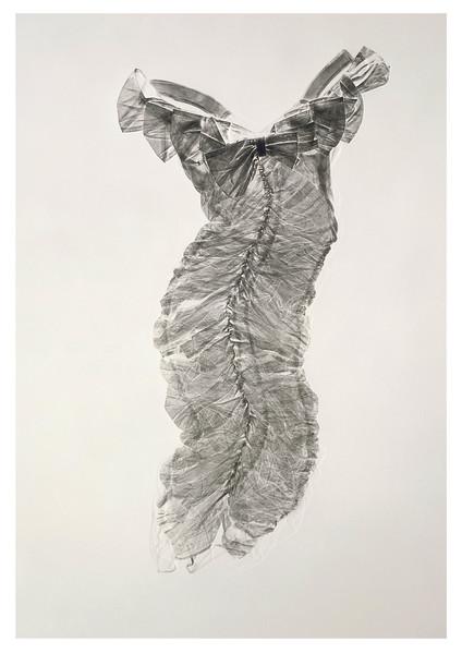 A fine art print taken from a real dress by artist Karen LaMonte