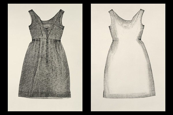 Incidence (Dress) is an artwork made by using a dress as a printing plate that investigates perceptions of beauty and presence and absence