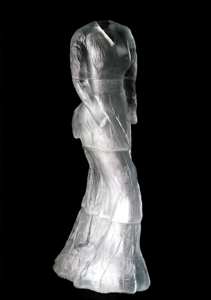 This life-size sculpture of a dress in cast glass is the seminal artwork marking the beginning of LaMonte's complex look at perceptions of self and beauty within society