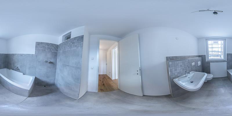 360 Grad-Ansicht vom Badezimmer