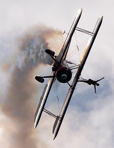 Greg Shelton and Ashley Battles flying Stearman Biplane