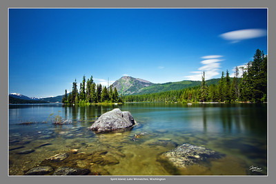 Spirit Island Lake Wenatchee, Washington