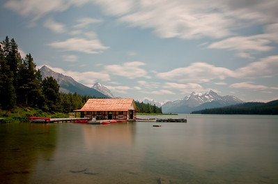 Maligne Lake Boat House Jasper National Park Canada