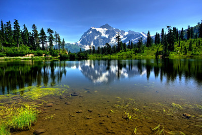Mt. Shuksan at Picture Lake North Cascades National Park, Washington