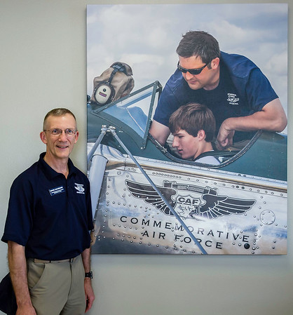 Mark and his Image displayed at CAF HQ