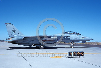F-14USN-VF-11 0045 A taxing USN Grumman F-14 Tomcat jet fighter 162699 VF-11 RED RIPPERS USS John C Stennis NAS Fallon 10-1997 military airplane picture by Michael Grove, Sr