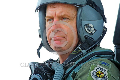 ACM 00216 A sobering stark reality check--this highly experienced full colonel California ANG F-15 Eagle jet fighter pilot is a trained professional aerial assassin and a force for liberty and freedom, portrait by Peter J Mancus