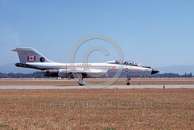 F-101BForg 00065 A taxing McDonnell CF-101B Voodoo Canadian Armed Forces 101057 Abbottsford 11-1979 military airplane picture by Michael Grove, Sr