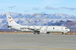 P-8USN 00001 A static Boeing P-8 Poseidon USN multi-mission anti-submarine warfare, shipping interdiction and electronic intelligence aircraft at NAS Fallon 2015 military airplane picture by ...