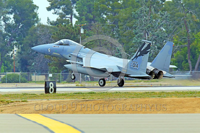 F-15ANG 00007 A McDonnell Dougas F-15 Eagle jet fighter California ANG 84014 144 FW commanding officer's airplane lands at Fresno ANG base 3-2015 military airplane picture by Peter J Mancus