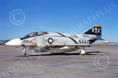 F-4USN 00012 A static McDonnell Douglas F-4J Phantom II US Navy 157275 VF-84 JOLLY ROGERS USS Roosevelt NAS Alameda military airplane by Michael Grove, Sr