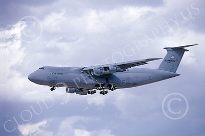 C-5 Galaxy 00070 A landing low viz gray color scheme Lockheed C-5 Galaxy USAF 00457 10-1996 military airplane picture by Michael Grove, Sr