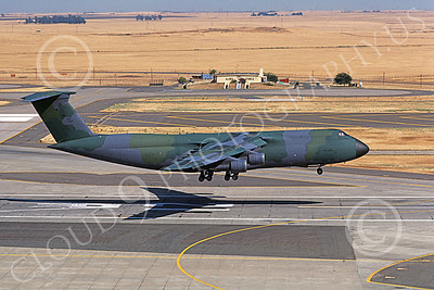C-5 Galaxy 00066 A landing lizard color scheme Lockheed C-5 Galaxy USAF 90007 Travis AFB 7-1985 military airplane picture by Carl E Porter