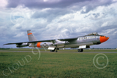 B-47USAF 00003 A taxing Boeing B-47 Stratojet USAF 32104 with DAY-GLO paint 2-1979 military airplane picture by Michael Grove, Sr