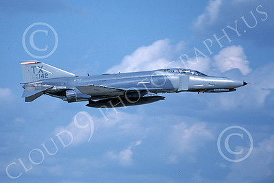 F-4USAF 00098 A flying McDonnell Douglas F-4E Phantom II AFRES 72142 TX code 8-1990 military airplane picture by Michael Grove, Sr