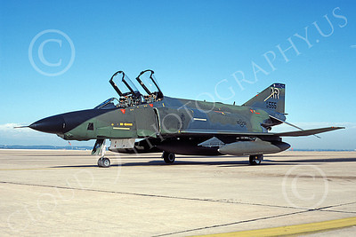 F-4USAF 00051 A taxing McDonnell Douglas RF-4C Phantom II USAF 68555 AR code 11-1986 military airplane picture by Michael Grove, Sr