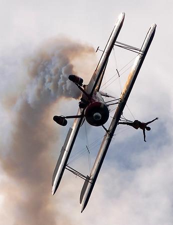 Greg Shelton and Ashley Battles flying Stearman Biplane