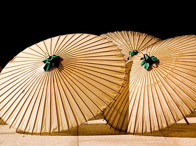 Umbrellas at Japanese shrine.