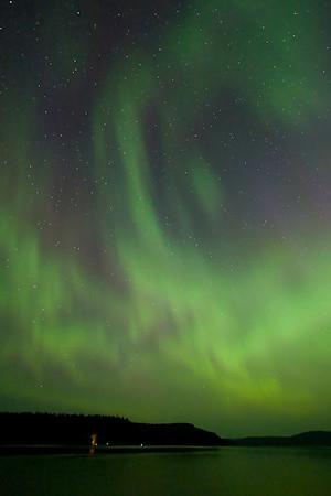Northern Lights over Fowl Lake, Canada-Minnesota border.