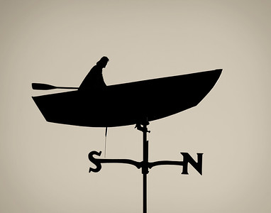 """Rowing North""--Lake Superior Weather Vane"