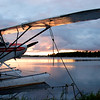 Cub Floatplane on Alaskan Lake.
