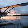 Cub Floatplane on Alaskan Lake.