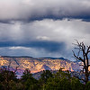 Snow clouds over Sedona, Arizona.