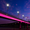"""Bridge of Light"" over Arkansas River."