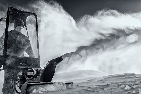 Environmental Portrait--Blowing Snow