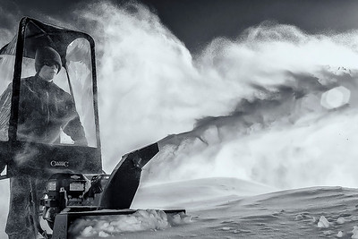 Environmental Portrait--Blowing Snow