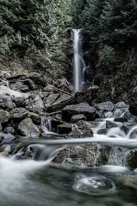 in North Vancouver there is a long, but easy hike to a waterfall called Norvan Falls (get it?). I took the time one day when I wasn't working and hiked the 20 odd kilometres there and back to do some long exposures.