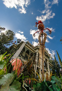 the Haunted Mansion, Disneyland, at Halloween