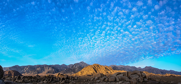 clouds above the Alabama Hills, Lone Pine, CA