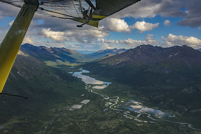 The mountains of the Yukon/NWT border