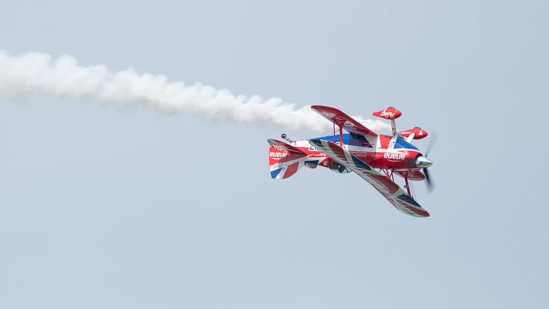 Curtis Pitts, G-EWIZ, Pits S2S, Pitts, Rich Goodwin Airshows, Wings, Wings and Wheels 2017; Dunsfold Aerodrome,Waverley District,Surrey,England