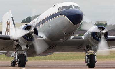 Arrivals, Breitling, DC-3, Douglas, HB-IRJ, RIAT 2015