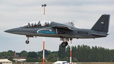Arrivals, E530, N531TA, RIAT 2015, Scorpion, Textron AirLand