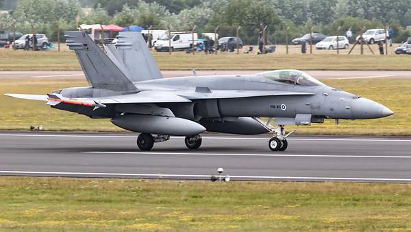 Boeing, F/A-18, F/A-18C, Finnish Air Force, HN-411, Hornet, RIAT 2015